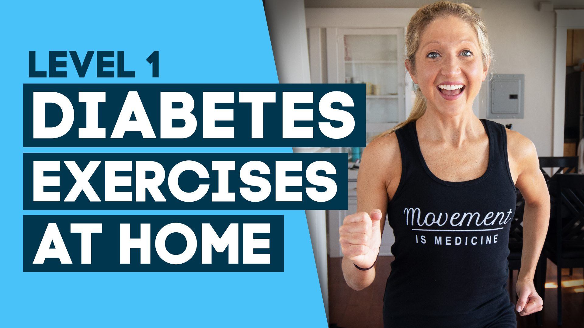Diabetes Exercise level 1 At Home Workout- To Help Cure Diabetes (Level 1)