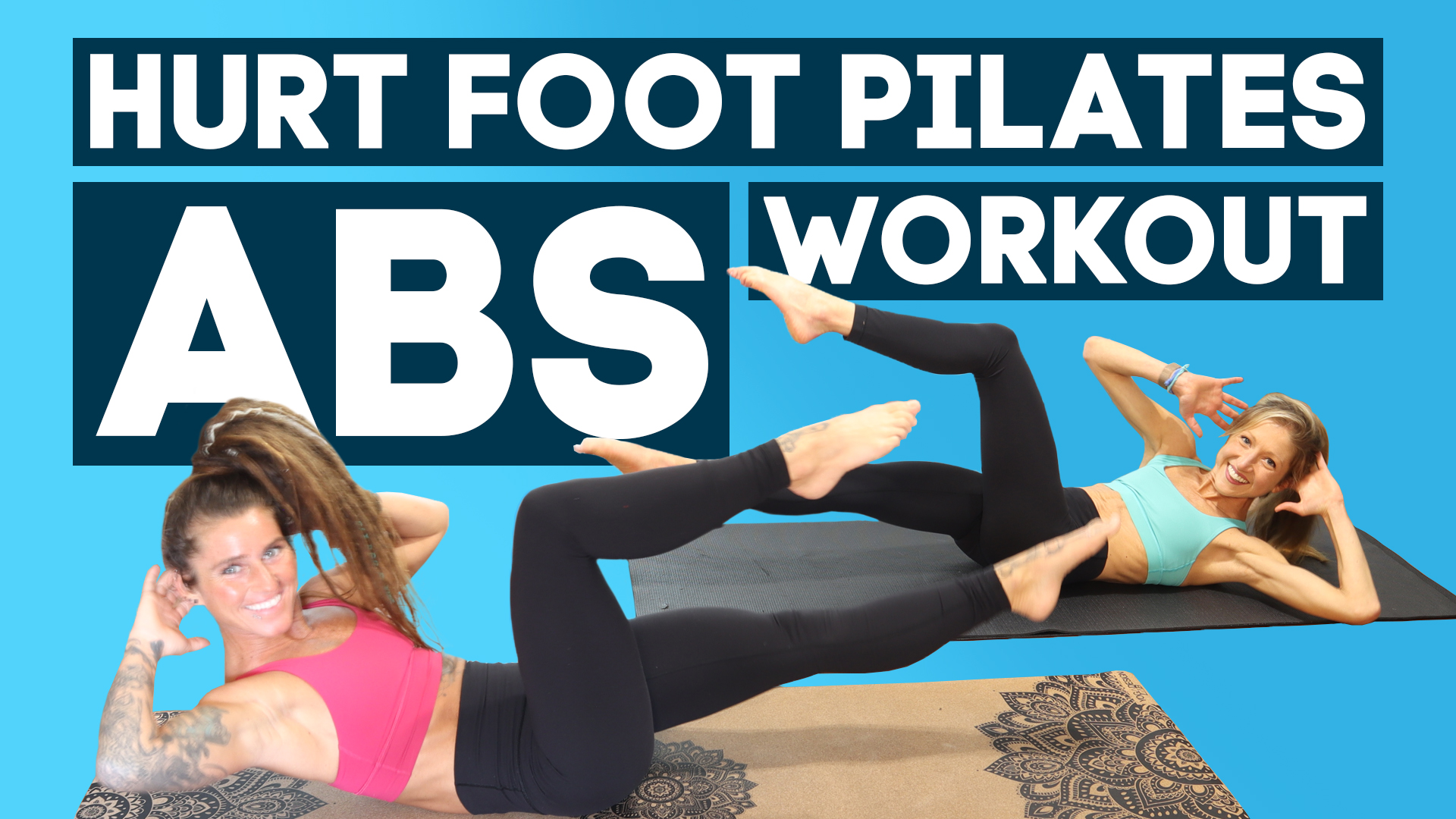 hurt foot pilates abs