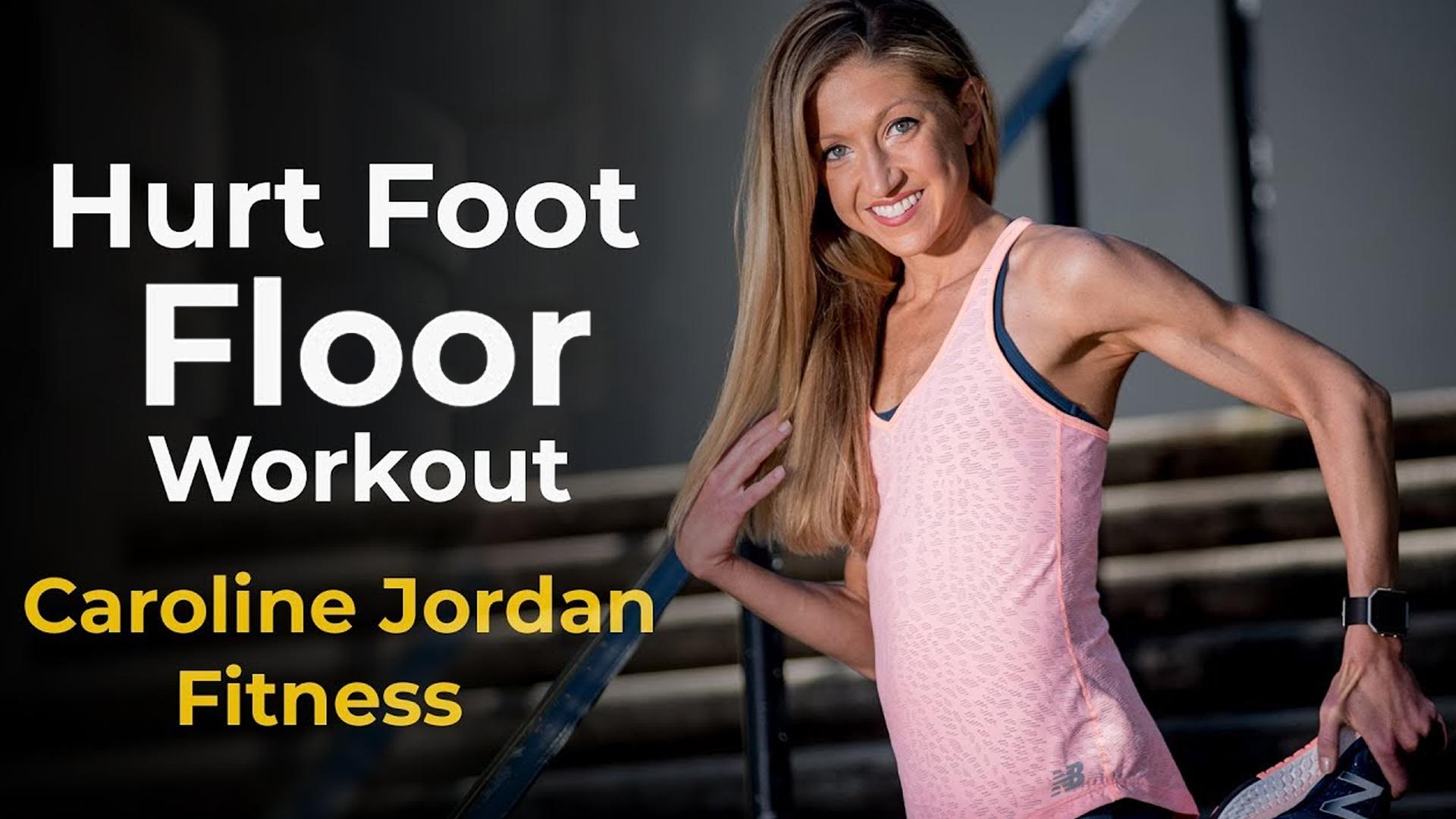hurt foot floor workout