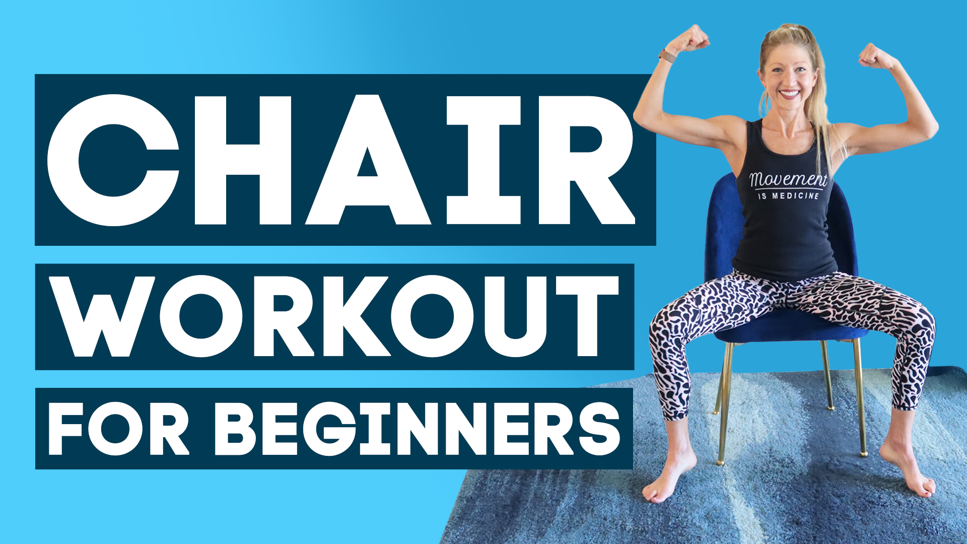 Chair Workout for Beginner - Seated Low Impact Fitness (SWEAT MORE!)
